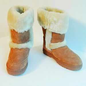 Style & Co Suede Fur Lined Booties Size 8